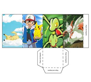 Portalápices de Pokemon. Recortables infantiles